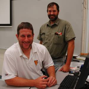 Leading the Forest Management Technology Program at Dabney S. Lancaster Community College are Scott Reigel (left), program lead, and Joe Thacker, interim program head. The associate degree program was recently granted accreditation through 2020 by the Society of American Foresters.