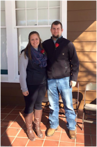 Greenbrier County 4-H'ers and Charting pin wearers Abundance Hunt (left) and Alex Gillespie were honored at Jackson's Mill by being inducted into the West Virginia 4-H All Stars.