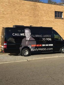 """Attorney Charles R. """"Rusty"""" Webb's new mobile office"""