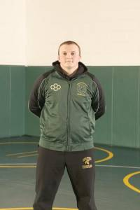 """NAME: Sheldon Simmons GRADE: 12th Grade PARENTS: John and Connie Simmons CITY: Frankford G.P.A.: 3.0 CURRENT RECORD: 20 Wins (8 Pins) FAVORITE QUOTE: """"With Courage you will dare to take risks, have the strength to be compassionate and the wisdom to be humble. Courage is the foundation of Integrity. """" COACH'S COMMENT: """"Sheldon has earned the right to be a Team Captain and he has upheld those responsibilities.His work ethic will help him succeed throughout life."""""""