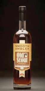 The winning bourbon, Old Scout 10-year-old single barrel bourbon.