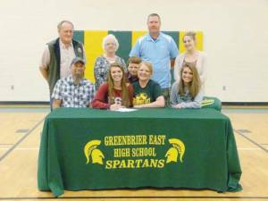 Chelsey Midkiff signing with Fairmont State soccer 5-12-16