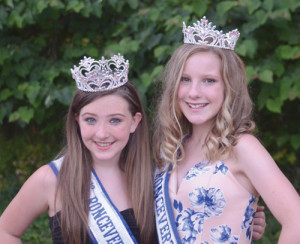And her court Gracie Marsh (right) won the Teen Queen contest. She is from Clarksburg, and is 13 years old. Sierra Allen (left) won the Junior Teen Contest. She is 12, and lives in Clay. (Mark Robinson photos)