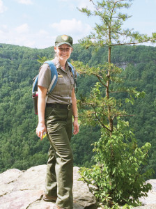 Park ranger in New River Gorge National River. (NPS photo)