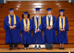 Greenbrier West Top 5 GWHS Promise: Sarah Brunty (left), Hannah Amick, Christopher Flanagan, Evan Epstein, Brandon Ayers, Cody Chrisman, Jared Browning, Caleb Currence and Justin Adkins