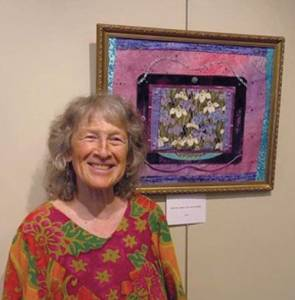 Shoshanna Schwimmer's Fabric & More exhibit is at the Lewisburg Visitors Center through the month of June.