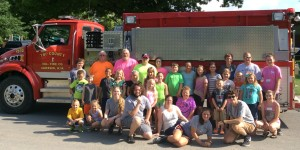 Members of Tri-County Volunteer Fire Department visited Alderson Energy Express last Tuesday