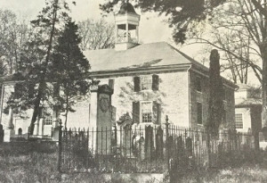 An old photograph of Old Stone Cemetery