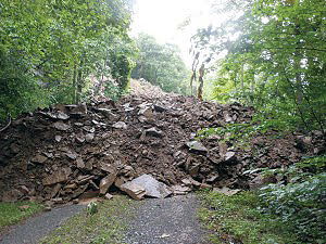 """""""The Mother of all Landslides"""" on the Greenbrier River Trail"""