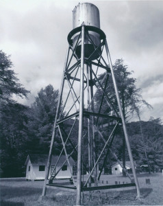 """""""Childhood Memories"""" by Arlene Russell, 2015 Hidden History Photo Contest - Best in Show (Water tank at Camp Brookside in Brooks, WV)"""