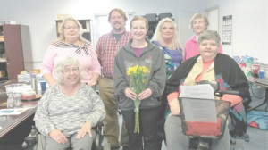 Members of the Greenbrier Valley Disability Committee - Front Row: Cindy Tucker (left), Aleka Smith and Dixie Hoke; Back Row: Diana Shay (left), Jamie Lafferty, Vicki Dove and Pat Wood